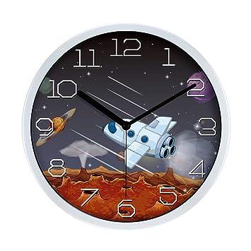 Relojes Cuarzo Silencio Sin Hacer Tictac FáCil De Leer Reloj De Pared Hora Preciso Arte De ...