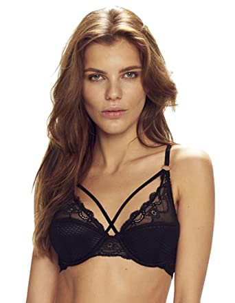 f842f738573 Confidante Women's Opium Black Lace Padded Underwired Full Cup Bra ...