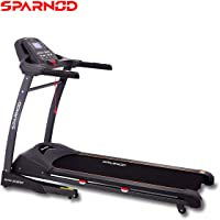 Sparnod Fitness STH-5300 (5.5 HP Peak) Automatic Treadmill (Free Installation Service) - Foldable Motorized Walking…
