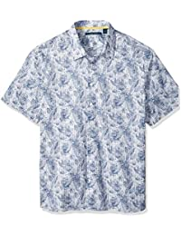 Perry Ellis Men's Big and Tall Tropical Sketched Floral...