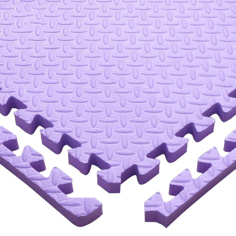 MAHFEI ジョイントマットフロアマット エクササイズマット クロールマット 衝突保護 リビングルーム 増粘 強い靭性 耐衝撃性 PE 、5色 無料の組み合わせ (Color : 紫の, Size : 24PCS) 紫の 24PCS
