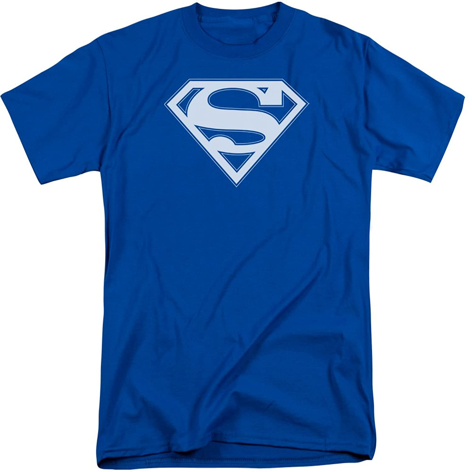 Superman Men's Blue - White Shield Tall T-Shirt