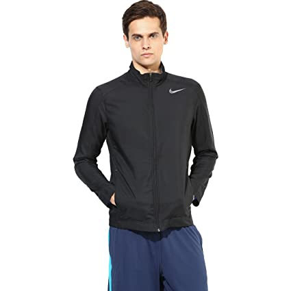 b185ca43b Buy Nike Team Woven Men's Jacket - Black Online at Low Prices in India -  Amazon.in