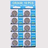#9: JOOBEF CR2430 Lithium 3V Battery, Electronic Coin Cell Button(10 Pcs)