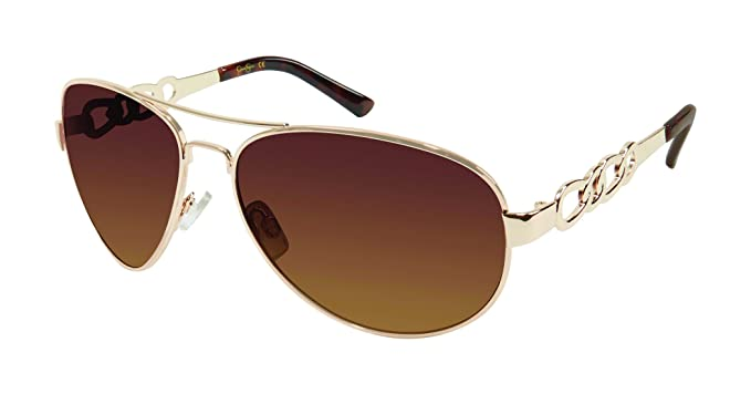 f1c4fab14c Image Unavailable. Image not available for. Color  Jessica Simpson Women s  J5399 Gld Aviator Sunglasses