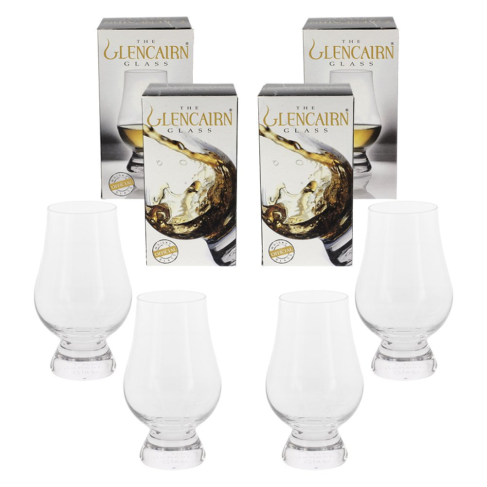 Glencairn Crystal Whiskey Glass, 4 Pack Gift Set