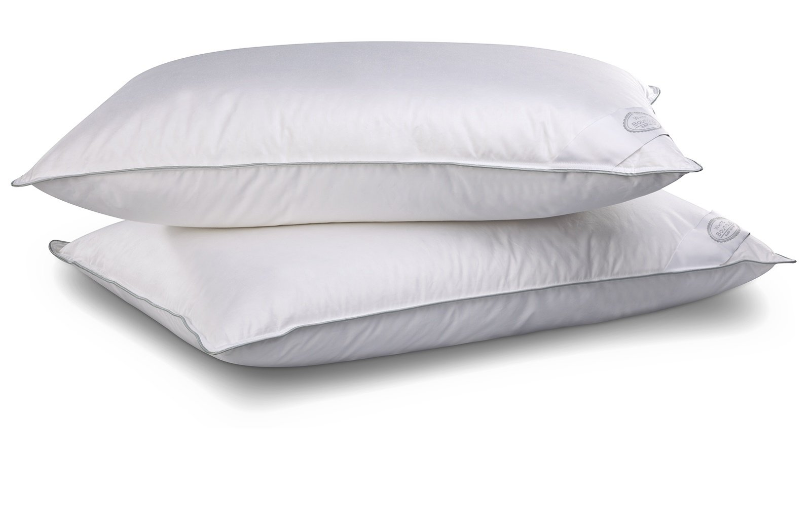 PERLA- Luxury Goose Down Pillow- Hypoallergenic- Cool sleeping- 90 % Goose Down- 10 % Feathers- Anti Stress Effect-Pack of 4