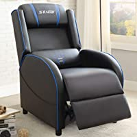 Homall Gaming Recliner Chair Racing Style Single Living Room Sofa Recliner PU Leather Recliner Seat Home Theater Seating…