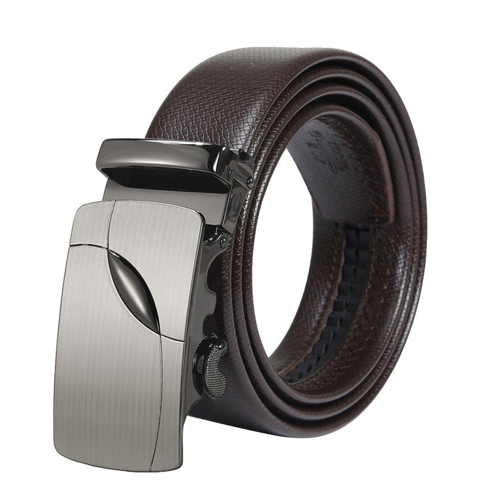Lihaer Cinturón de Cuero para Hombre Cinturones Hebilla Automática Cinturones para Caballero rhu3Ye6I0