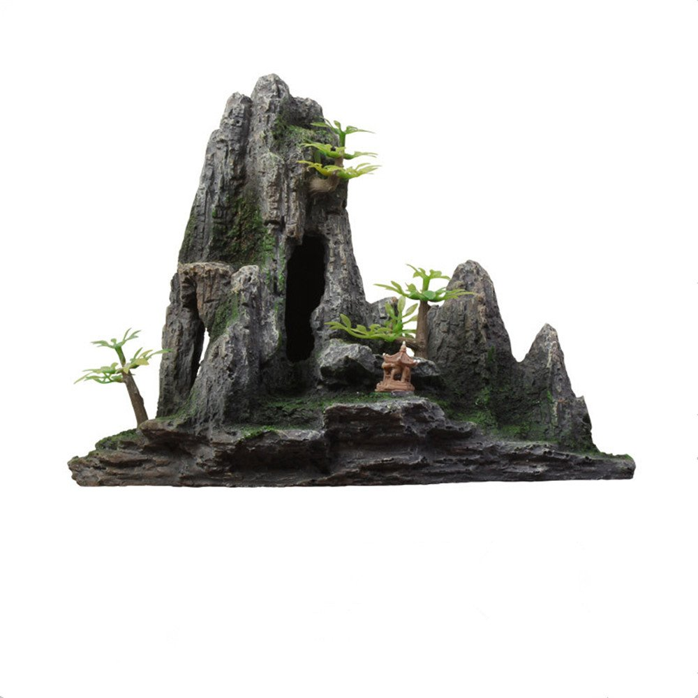 Danmu 1pc of Polyresin Fish Tank Aquarium Rockery Ornament 9.45'' x 4.33'' x 6.69'' by Danmu