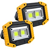 LED Work Lights Rechargeable Work Light Portable Flood Lights Waterproof COB Work Light Built-in Power Bank for Camping Emerg
