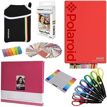 Polaroid Mint: Impresora instantánea (Rojo) PAQ Arte + 20 ...
