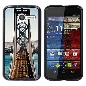 "For Motorola Moto X Motorola Moto X ( 1st Generation ) , S-type Arquitectura San Francisco puente de tráfico"" - Arte & diseño plástico duro Fundas Cover Cubre Hard Case Cover"