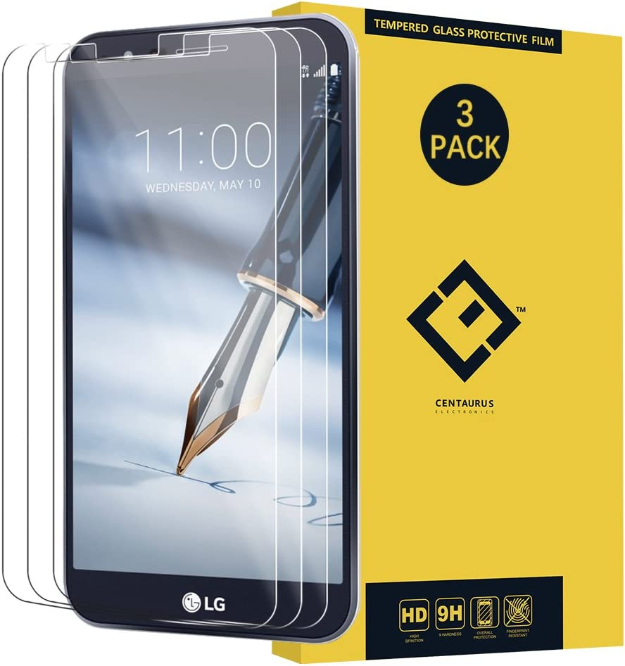 LG Stylo 3 Plus Glass Screen Protector,(3 Packs)Anti-glare Ultra-thin Crystal clear 9H Hardness Shatter proof Anti-scratch Tempered Glass Protective Film for LG Stylo 3 Plus MP450 TP450 M470 M470F PH3