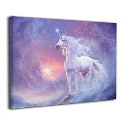 JAWANNA Unicorn Oil Canvas Paintings Abstract Wall Art Home Decorative Classical Dining Room Bathroom