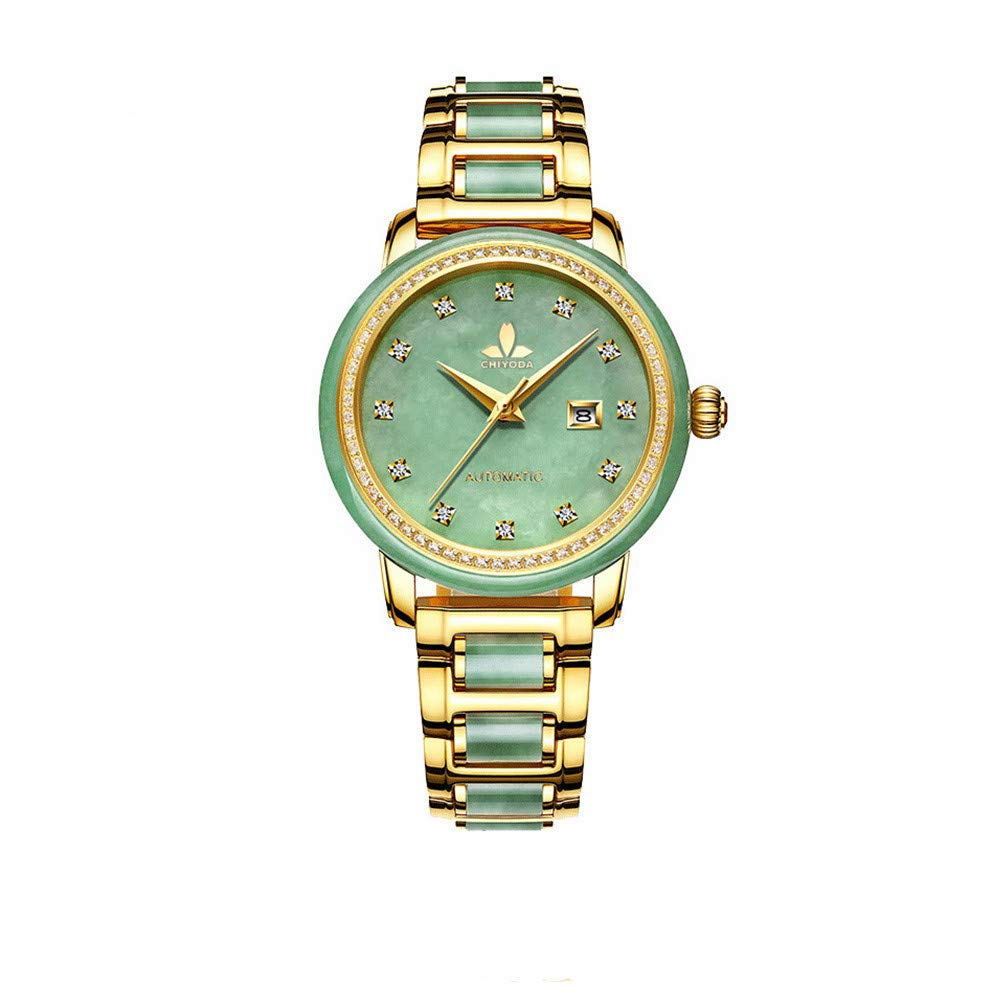 CDM product CHIYODA Luxury Watch Women's Automatic-Self-Wind Watch with Calendar and Jade Dial Precious Timepiece for Collection big image