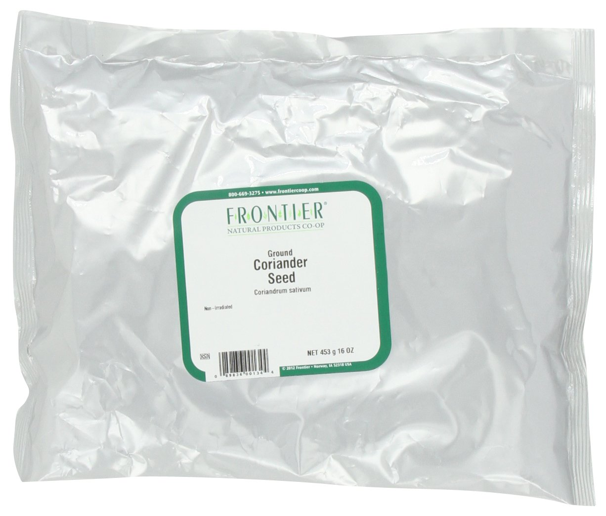 Frontier Coriander Seed Powder, 16 Ounce Bags (Pack of 2)