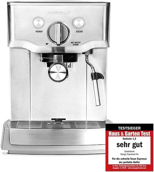 Gastroback Design Espresso Pro cafetera expresso, 1000 W, 1 Liter ...
