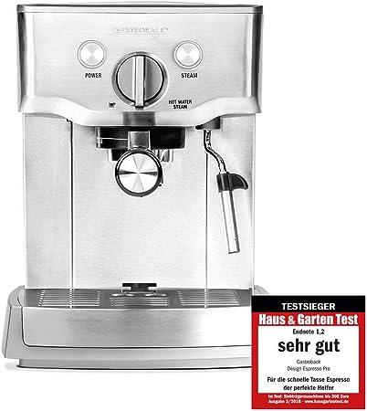 Gastroback Design Espresso Pro Independiente Máquina espresso 1,5 L Manual - Cafetera (Independiente, Máquina espresso, 1,5 L, De café molido, 1000 W, Acero inoxidable): Amazon.es: Hogar