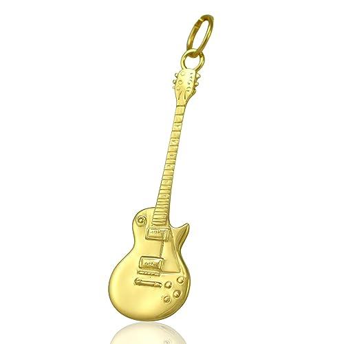 Solid 9ct oro Gibson Les Paul de la guitarra eléctrica - cadena collar 40,64
