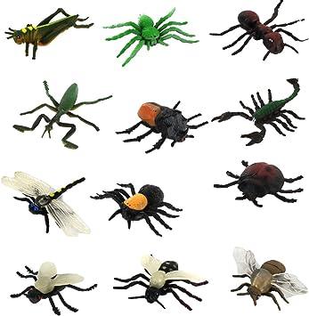 Modelos Animales Insectos Pvc Plastico Establecidos 12pcs Juguete Ninos Multicolor: Amazon.es: Juguetes y juegos