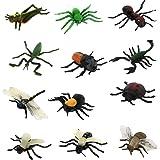 Lot de 12pcs Insectes en Plastique Figurines Animaux Jouet