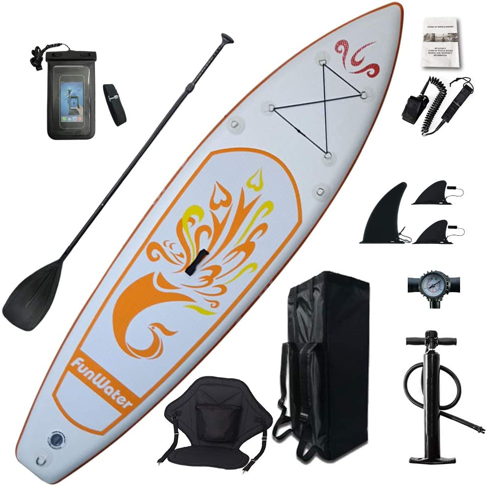 FunWater Inflatable Stand-Up Paddleboard and Kayak Hybrid