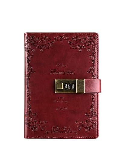 ZXSH Cuaderno Suministros De Oficina Papelería Retro Flor ...