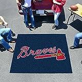 Large Tailgating Mat w Atlanta Braves Baseball Logo