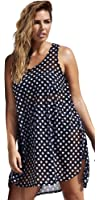 swimsuitsforall Women's swimsuitsforall Polka Dot High-Low Tunic