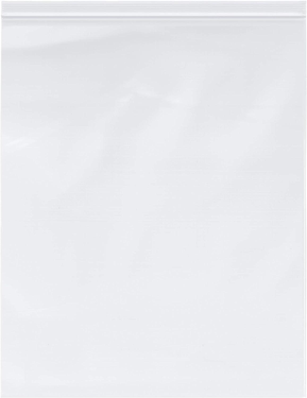 "Plymor Heavy Duty Plastic Reclosable Zipper Bags, 4 Mil, 16"" x 20"" (Pack of 100)"