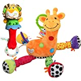 がらがら玩具 音鳴り ラトル 赤ちゃん ベビー キリン 掛け可 GYBBER&MUMU 0月以上 ギフト付属 布のおもちゃ (キリン_オリジナル)