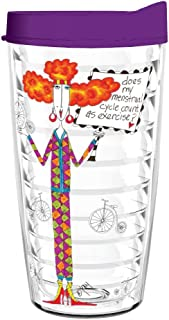 product image for Smile Drinkware USA- Dolly Mama-Dolly Mamas Does My Menstrual Cycle Count As Exercise 16oz tumbler with lid and straw