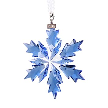 Crystal Christmas Ornaments.Xiangban 2019 Snow And Ice Elf Pendant Crystal Christmas Ornaments Blue