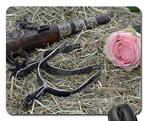 Mouse Pad - Pistol Spores Hay Wild West Freedom Ride Ornament