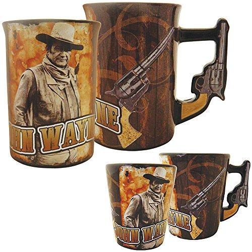 john wayne ceramic pistol handle