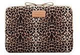 KAYOND Laptop Sleeve 11 inch 11.6 inch Laptop Case with Water-resistant and Shockproof Protective Case for 11.6 inch Notebook Computer Pocket Tablet - Brown Leopard Print