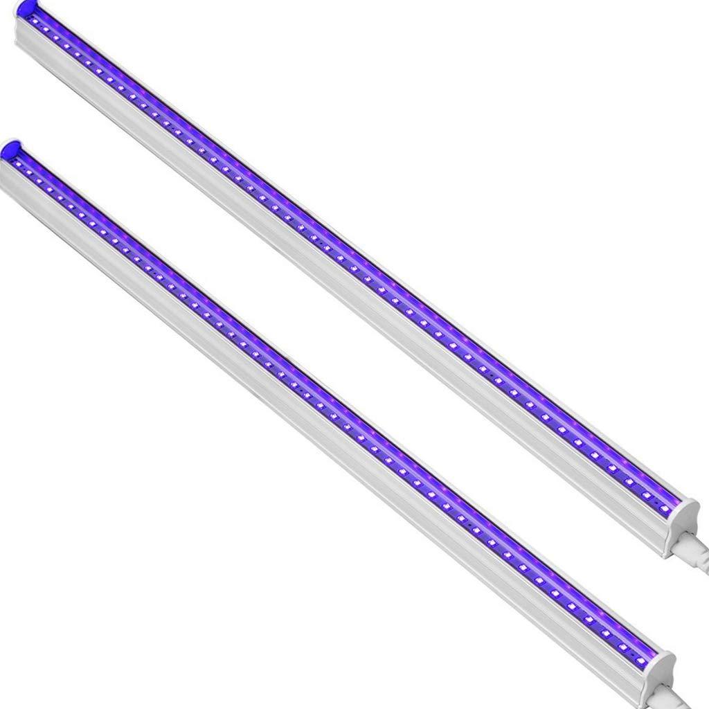 CATIYA UV LED Black Light Fixtures, T5 LED Light Tube 10W, 2ft, 48 LED 395nm Ultraviolet Blacklight Lamp