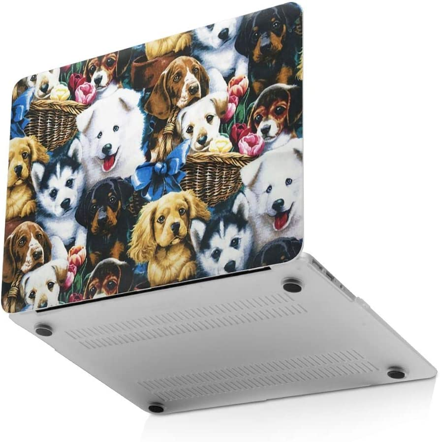 Patchwork Dog Laptop Case Dust-Proof Laptop Case Cover Fashion Fully Protect Computer Plastic Case Hard Shell Cover Laptop Sleeve Case for New air13