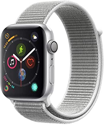 Apple Watch Series 4 (GPS, 44mm) - Silver Aluminum Case with Seashell Sport Loop