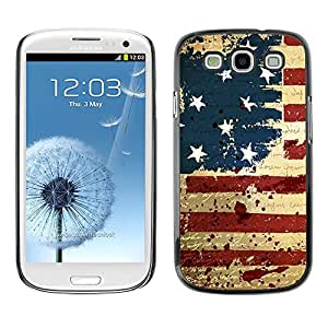 Impact Case Cover with Art Pattern Designs FOR Samsung Galaxy S3 GRUNGE VINTAGE USA FLAG Betty shop