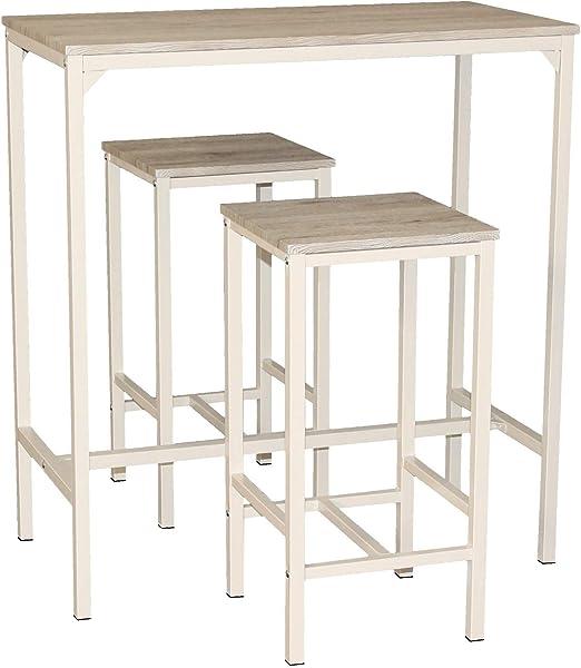 Mod. BRASIL Set Mesa Bar y 2 taburetes muebles cocina Sillas ...