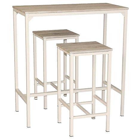 Mod. BRASIL Set Mesa Bar y 2 taburetes muebles cocina Caffe ...
