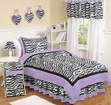 Sweet Jojo Designs 3-Piece Purple Funky Zebra Children's and Teen Full / Queen Girls Bedding Set