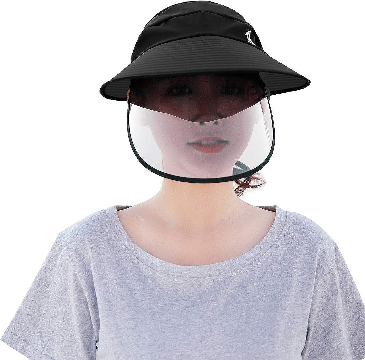Gorra protectora de b/éisbol desmontable antisaliva protecci/ón contra los ojos antisalpicaduras Faletony
