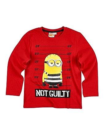 4d82af3e5dbcd les minions T-Shirt Manches Longues Enfant Rouge de 4 à 12ans  Amazon.fr   Vêtements et accessoires