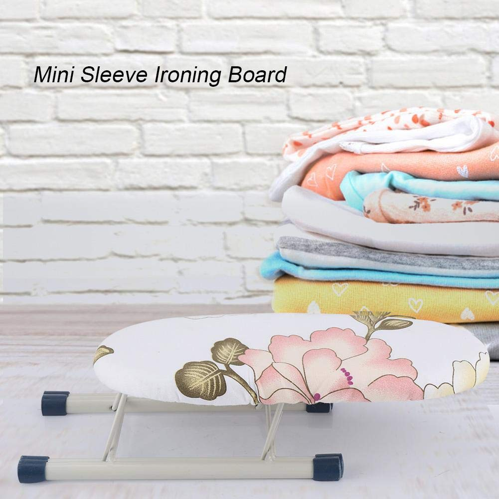 Peony Fdit Ironing Board Home Foldable Space-Saving Travel Sleeve Cuffs Collars Handling Table