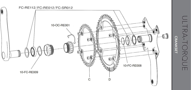 CAMPAGNOLO ET Dichtring /& Rillenkugellager Ultra Torque USB RE ca.40g FC-RE112..