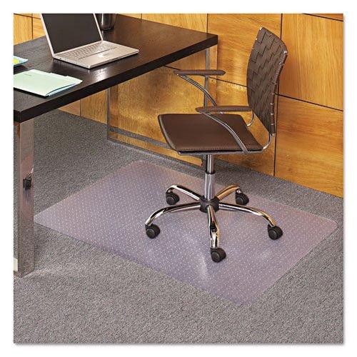 - EverLife Chair Mats For Medium Pile Carpet, Rectangular, 36 x 44, Clear