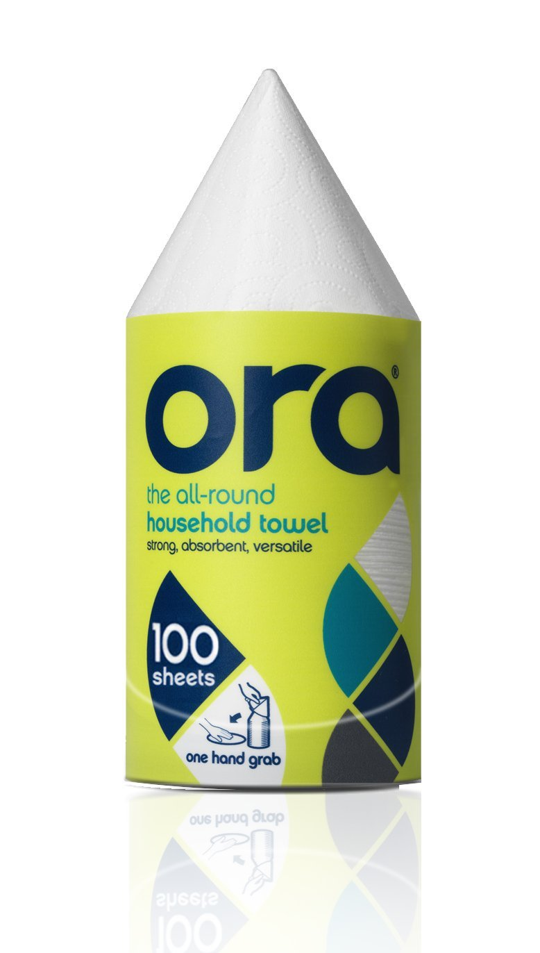 Ora Household Towel, Single Stack, 100 sheets Better All Round Ltd Ora 100